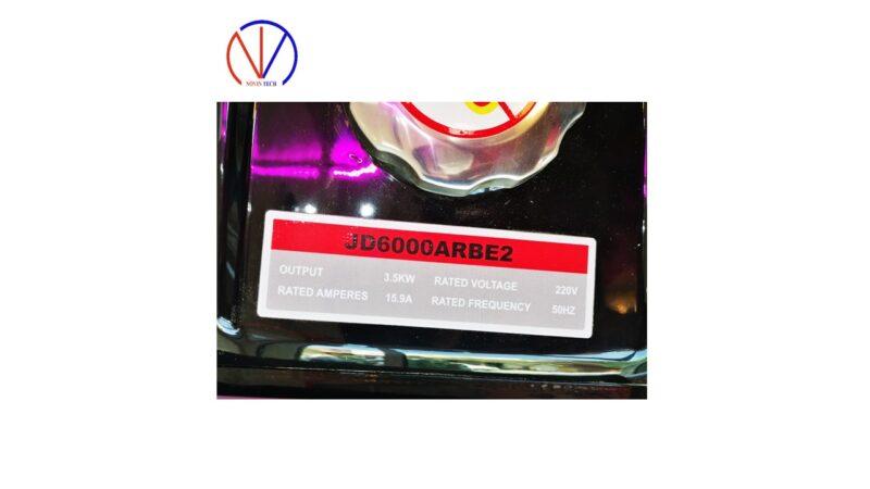 موتور برق جیانگ دانگ 3.5KW مدل JD6000ARBE2